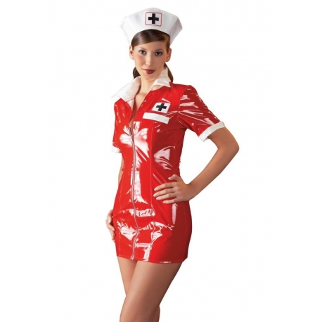 Párty kostým PVC Nurse Dress