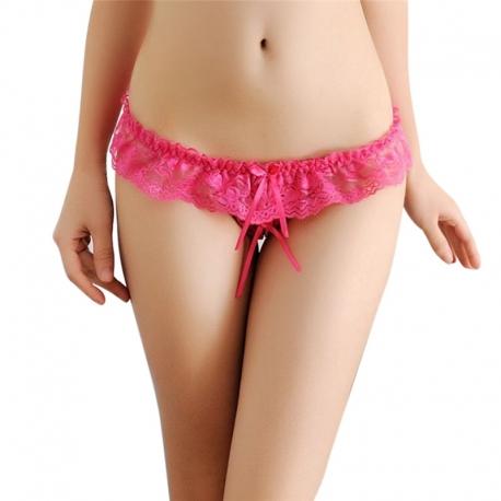 Dámske nohavičky s otvorom pink FLO Red Rose