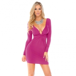 Fialové mini šaty Forplay BLVD Collection 884722
