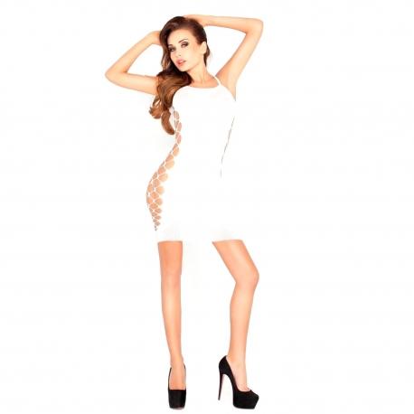 Biele minišaty Mini Dress BS026 White