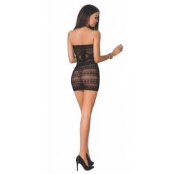 Sieťované minišaty BS063 Dress Black