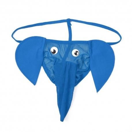 Elephant Blue Pánske párty tangá slon.