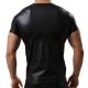 Wet-look T-shirt Black M007 Pánske tričko Luxury