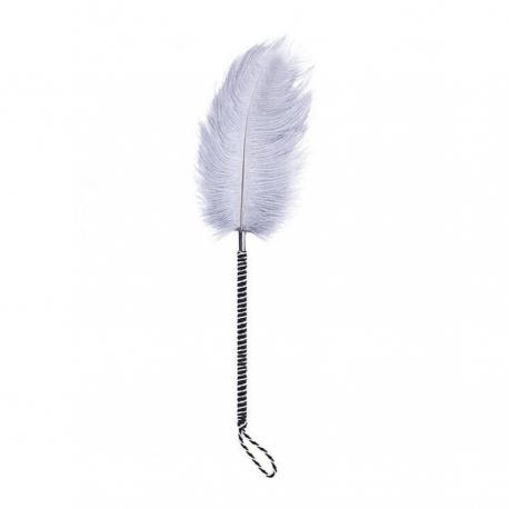 Big Grey Tickler Feather Pierko