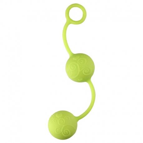Silikónové venušiné guličky Pleasure Balls Green