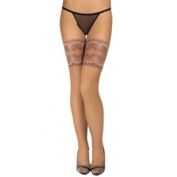 Hold-up Stocking With Wide Lace