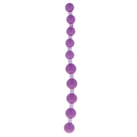 Análna guličková reťaz Jumbo Jelly Thai Beads Purple