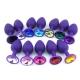 Malý silikónový análni kolík Jeweled Silicone Anal Plug Purple