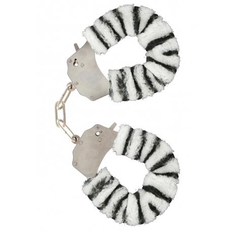 Furry Love Cuffs - Zebra