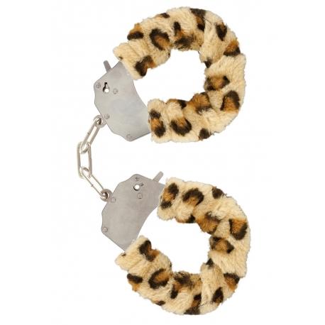 Furry Love Cuffs - Leopard