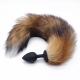 Chvost s análnym kolíkom Fox Tail & Butt Plug Black