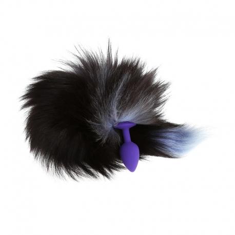 Chvost s análnym kolíkom Tail & Purple Butt Plug