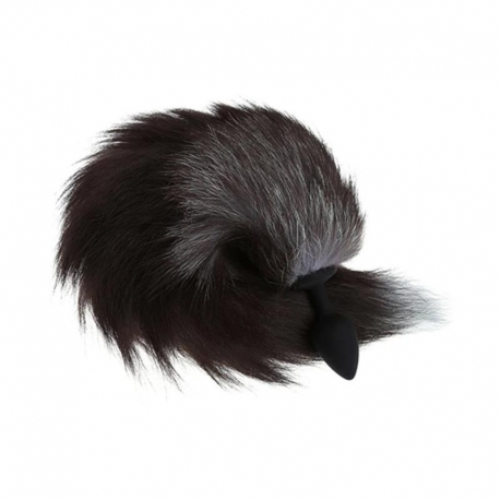 Chvost s análnym kolíkom Tail & Black Butt Plug