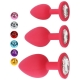 Análny kolík Red M Jeweled Silicone Butt Plug