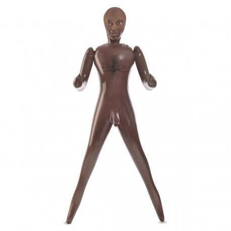 Nafukovací čokoládový muž Reggie Pipes Life Size Love Doll