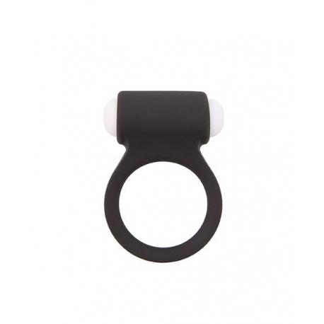 Vibračný silikónový krúžok Lit-Up 8 Black