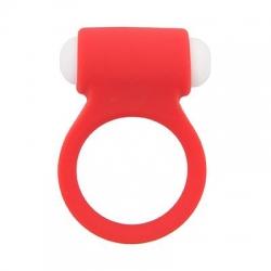 Vibračný silikónový krúžok Lit-Up 9 Red