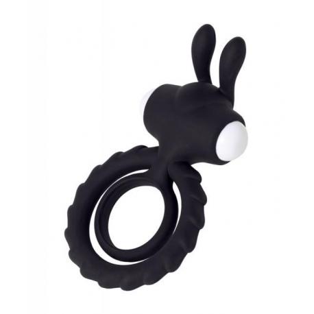 Vibračný krúžok Bad Bunny Two Rings Black