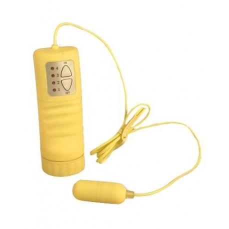 Vibračné vajíčko Mini Egg Vibe Silicone Yellow