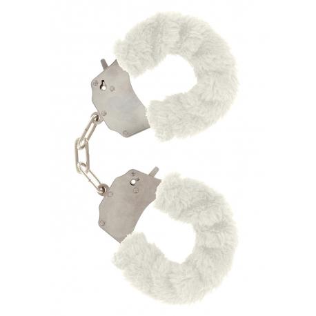 Putá na ruky s kožušinou Furry Fun Cuffs White