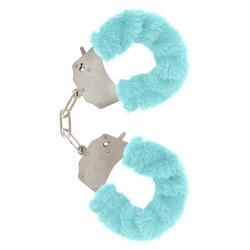 Putá na ruky s kožušinou Furry Fun Cuffs Blue