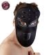 Fetish maska na tvár Studded Face Mask Black