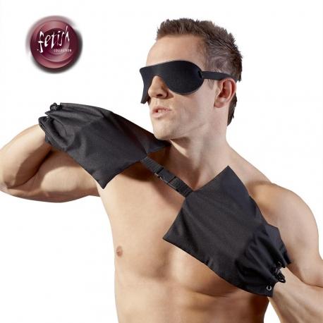 Vrecia na ruky s maskou na oči Role Play Black