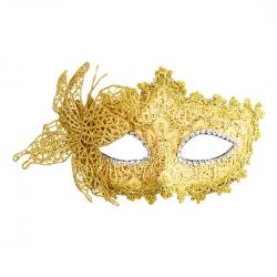 Škraboška Masquerade Venetian Mask Gold