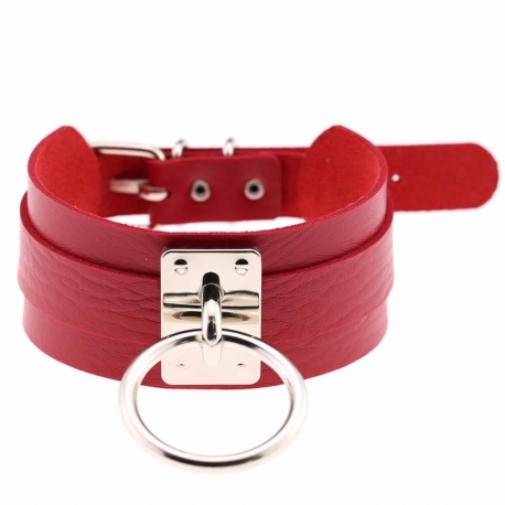 Obojok s kovovou prackou a krúžkom Red Collar