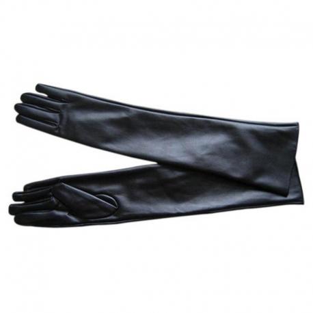 Dlhé kožené rukavice GLB1 Black