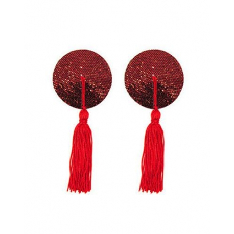 Trblietavé nálepky na bradavky Magic Nipple Red