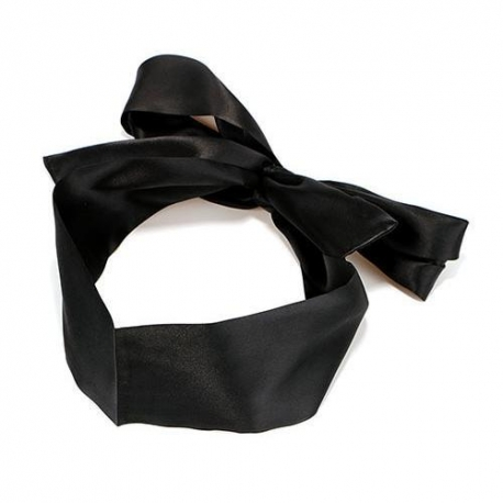 Čierna saténová stuha Black Belt