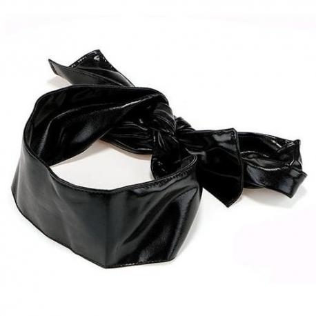 Čierna stuha koženého vzhľadu Lack Belt