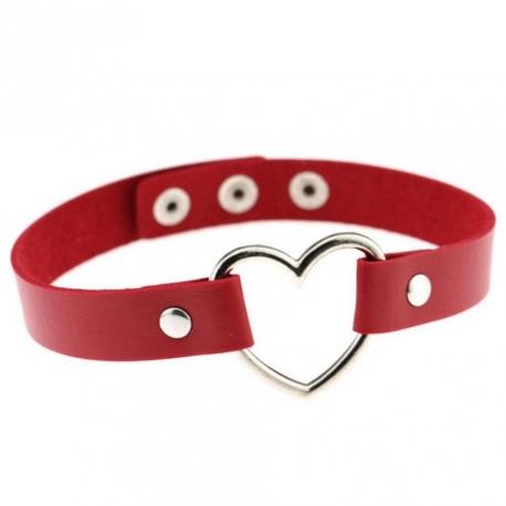 Obojok so srdiečkom Red Collar & Heart