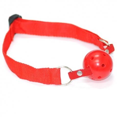 Mlčadlo Breathable Ball Gag Red