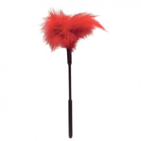 Červené veľké pierko Feather Tickler Red Sex Mischief