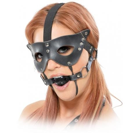 Maska na oči s mlčadlom Masquearde Mask And Ball Gag Restraint