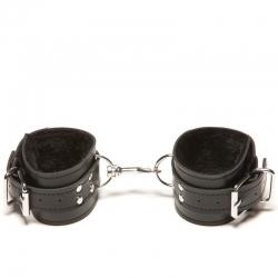 Kožené putá na ruky Passion Fur Wrist Cuffs Black