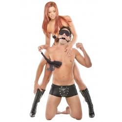 BDSM sada Japanese Silk Rope Bondage Kit Black