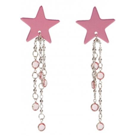 Ozdoba na telo Body Charms Star Pink