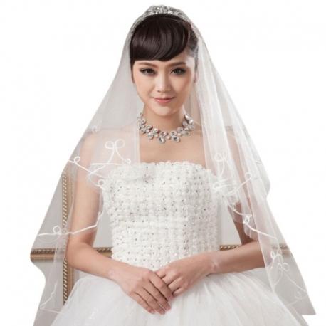 Závoj pre nevestu s ozdobnou obrubou Wedding veil