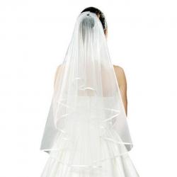 Závoj pre nevestu s tenkou obrubou Wedding veil