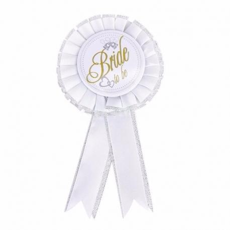 Odznak pre nevestu Bride To Be White