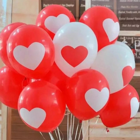 Balóny so srdiečkom.