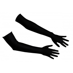 Saténové rukavičky Satin-Gloves Extra Long Black