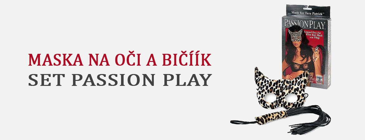 Maska na oči a bičíík Set Passion Play